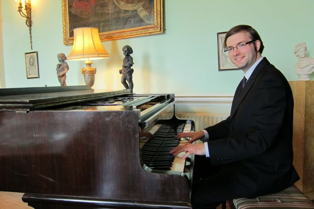 Tim Croston at the piano
